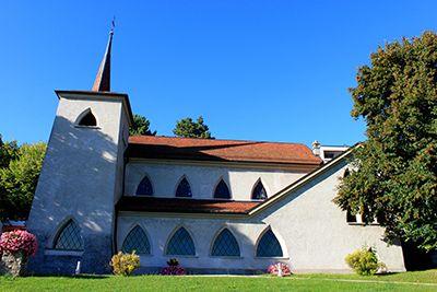 Église Saint-Martin de Lutry en Suisse.