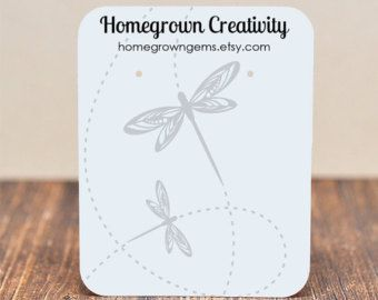 Dragonfly Earring Cards Customized - Jewelry Display Tags - Price Tags - Earring Tags | TS0093