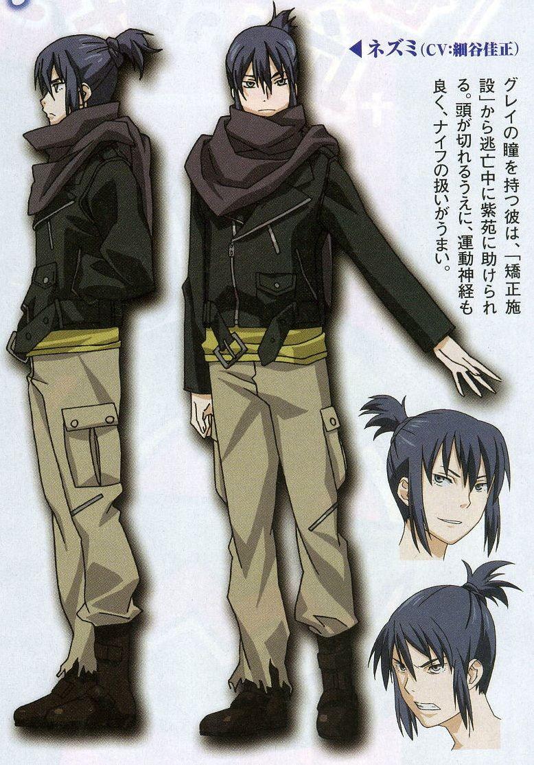 Nezumi from No.6 No 6, Character design, Anime