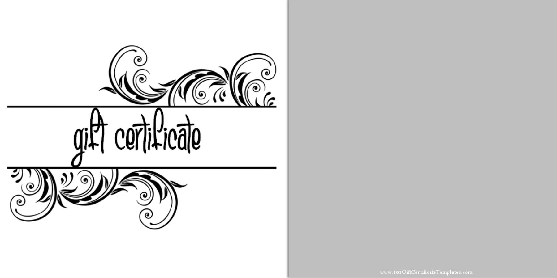 Free Printablegift Certificate Templates Which Can Be Customized
