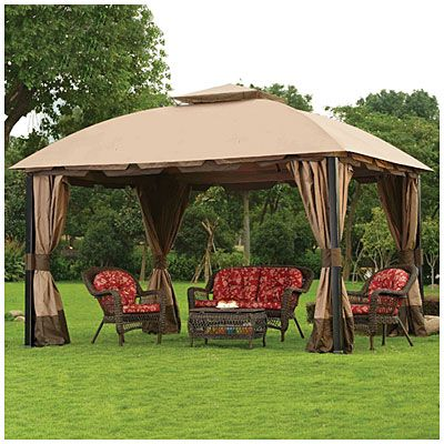 Wilson Fisher 11 X 13 South Hampton Gazebo At Big Lots Gazebo Backyard Patio Gazebo Canopy