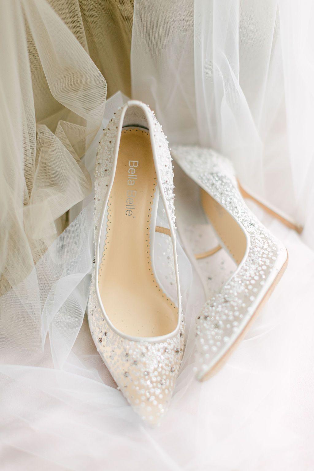 Cinderella Sparkly Wedding Shoes | Princess Wedding