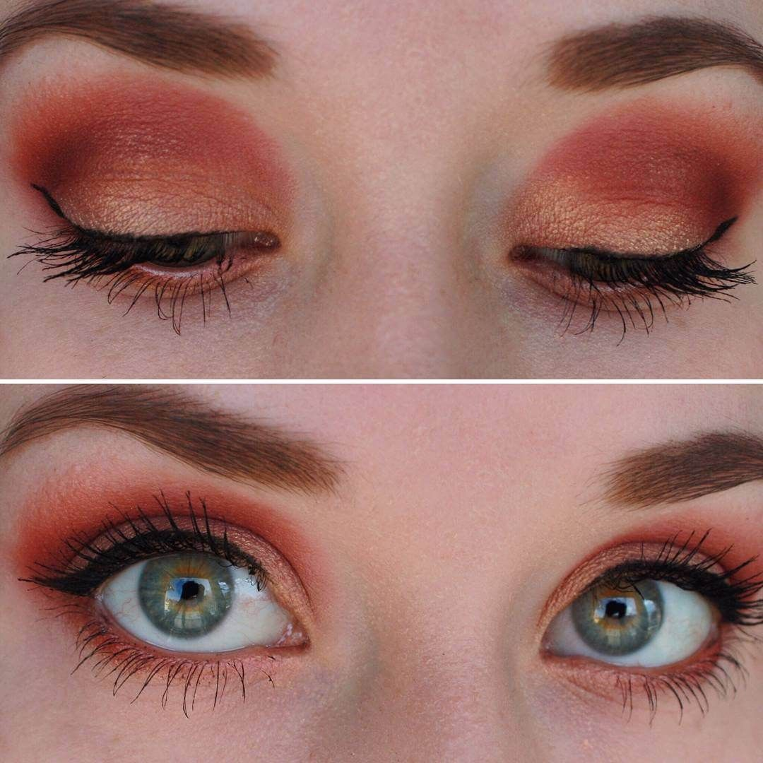 red eye shadow for green eyes | red eyeshadow, makeup for