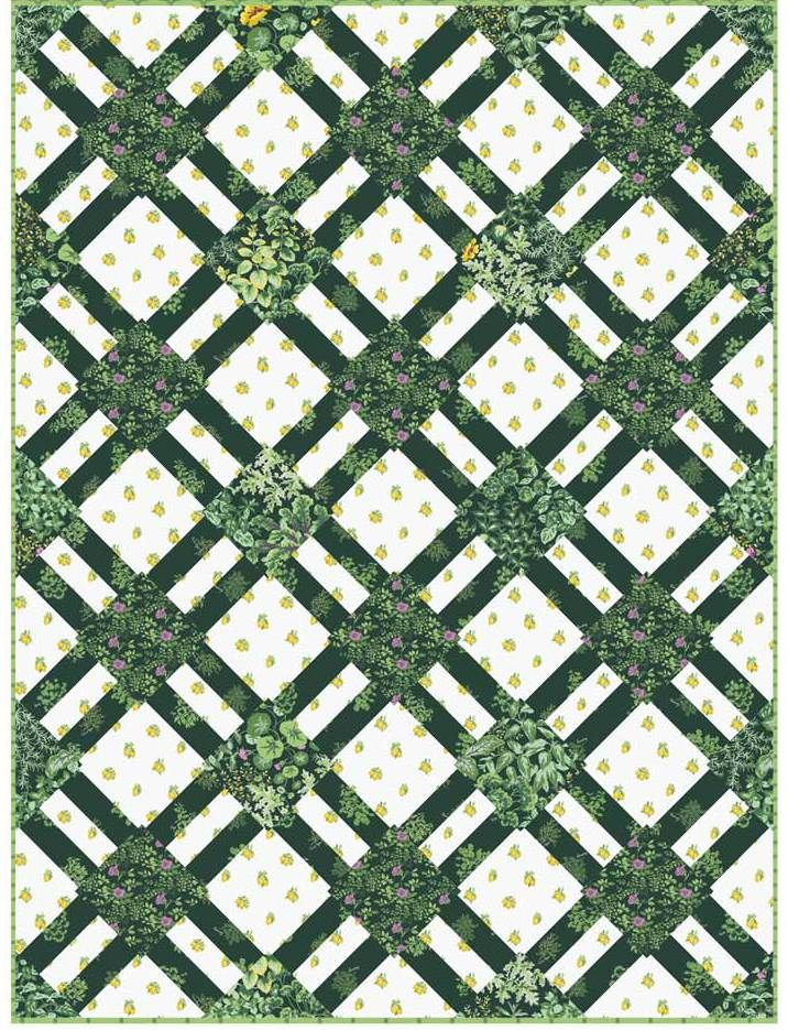 Free Pattern Cracker Lattice Quilt In Portico 51 X 68 By