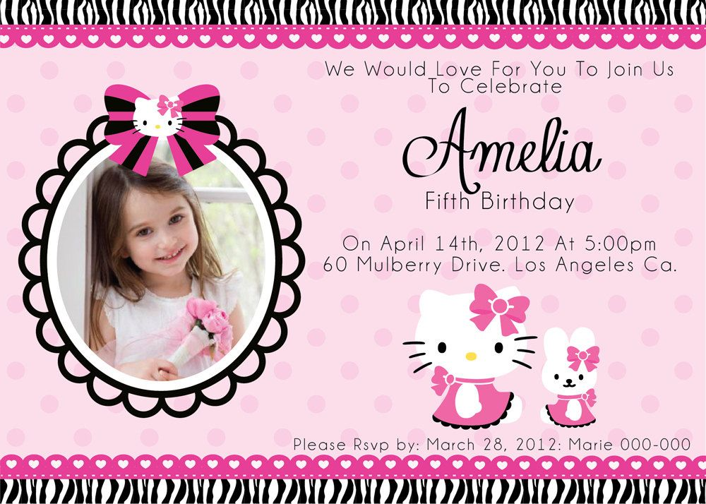 Printable Hello Kitty Invitations Free Hello Kitty Invitation Card Hello Kitty Invitations Hello Kitty Birthday Invitations