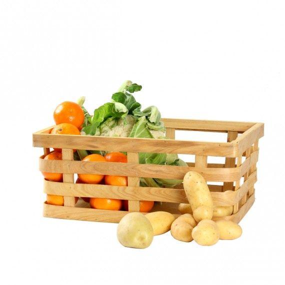 Rangement Fruits Et Légumes: Panier Bois, Panier, Panier Fruits Et Légumes, On Range