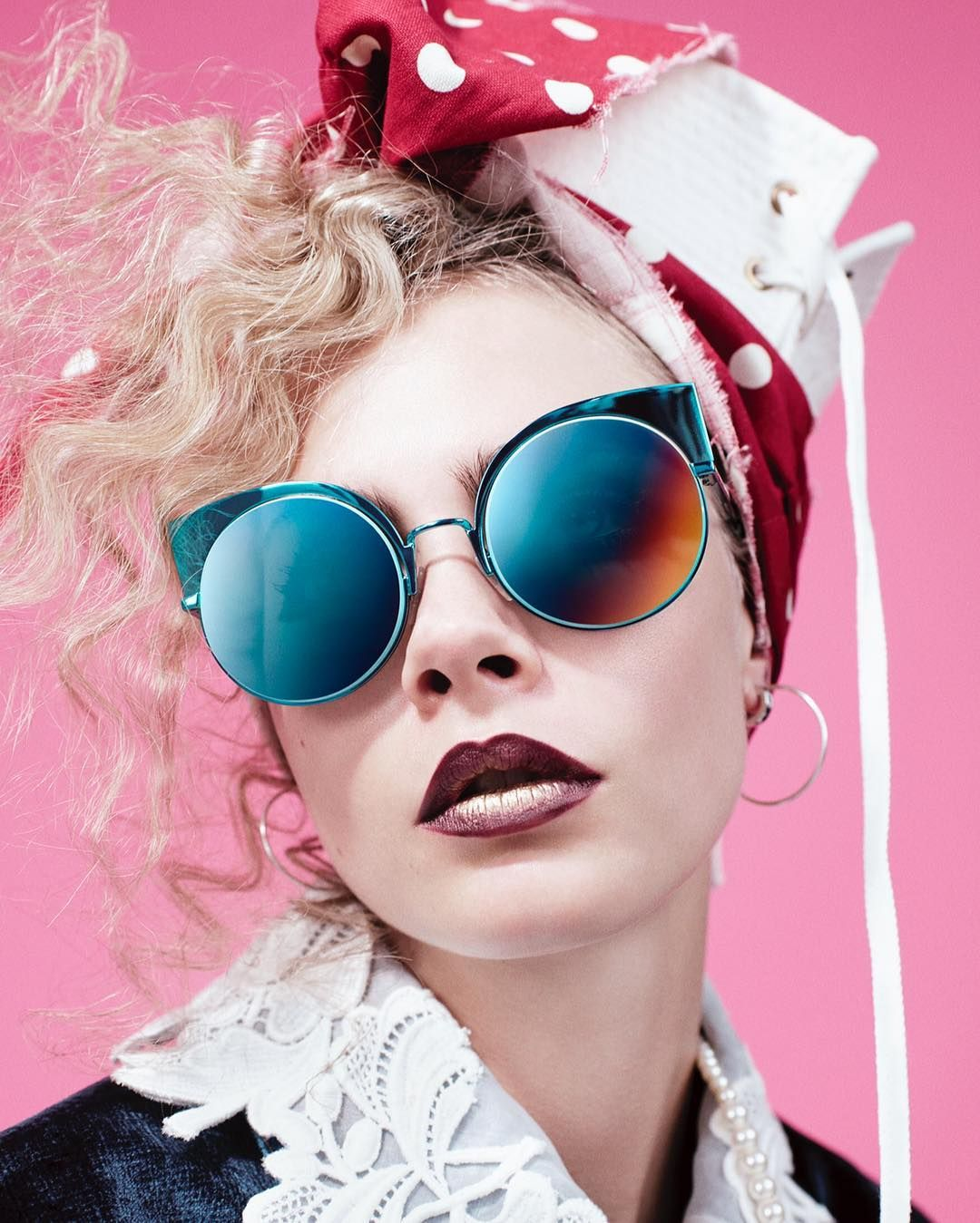0c6a6c00611 Cara Delevingne radiates in the Fendi Eyeshine sunglasses as seen in the  latest The Love Magazine issue.