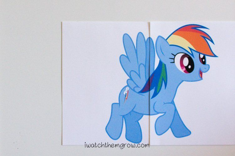 pin the tail on rainbow dash free printable my little pony rh pinterest ca