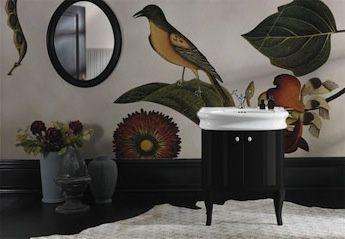 Klassieke badkamermeubels met wastafel landelijke badkamers
