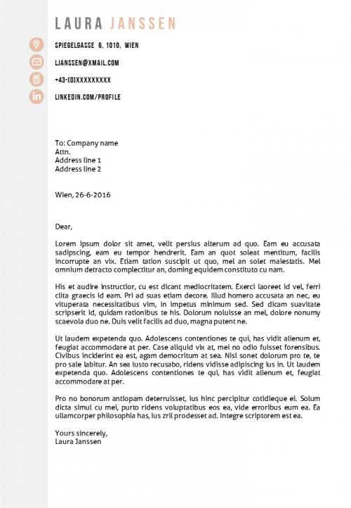 Cv Template Vienna Modern Cv Template In Ms Word Modern Cv Template Cv Template Cover Letter Template
