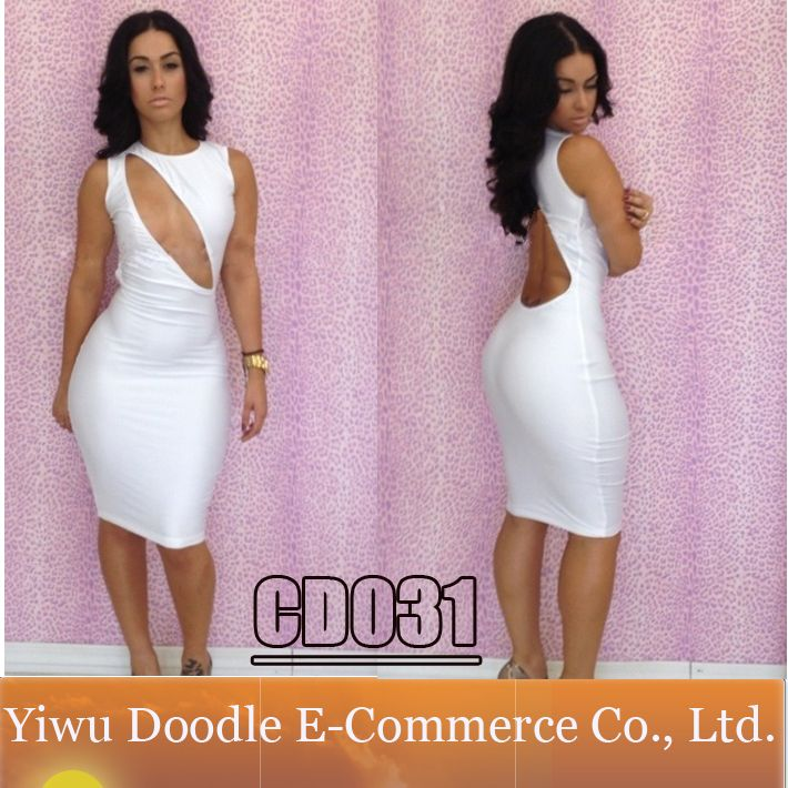 2014 Sexy Summer Women White Club Casual Dress Exclusive Orange ...