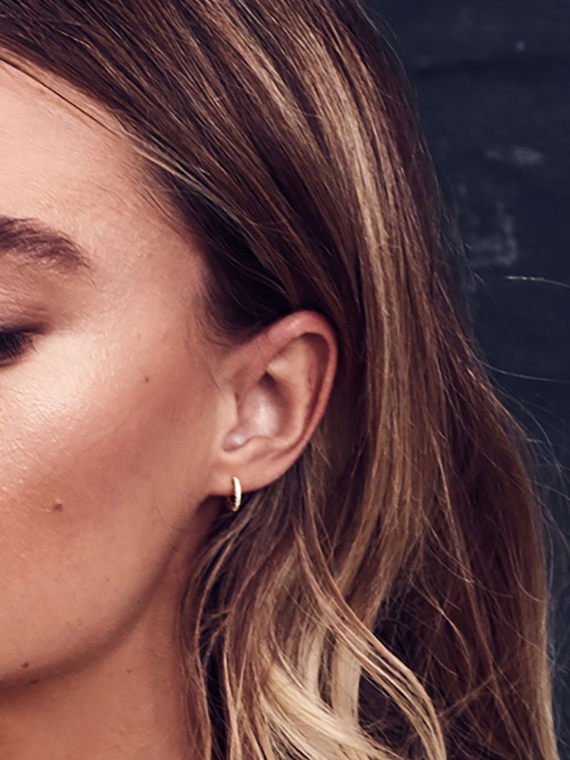 06ef1a0c2 These super dainty hoop earrings hug your ear lobe for a subtle,  barely-there look. SMALL: Outer diameter: 1cm (10 mm) Inner diameter: 0.7cm  (7mm) *Fits ...