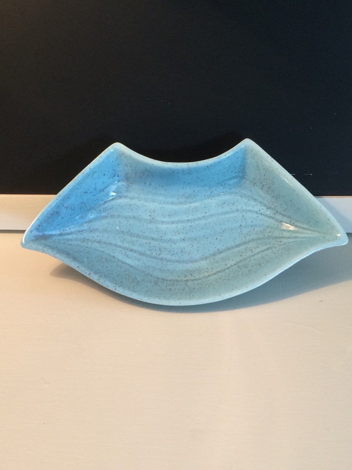 1950's Vintage California Pottery Robin's Egg Blue Lazy Susan Dish -- Free Shipping in US by BooRadleysTree on Etsy
