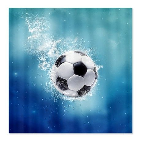 Soccer Water Splash Shower Curtain By Fantasyartdesigns Soccer