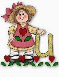 Alfabeto de nena en jardín de corazones. | Oh my Alfabetos!
