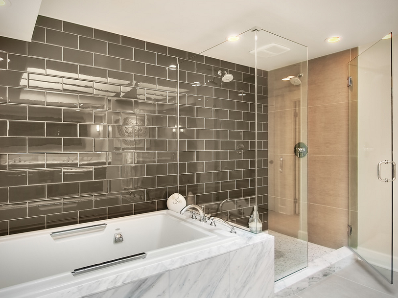 Predicting 2016 interior design trends year of the tile for Modern subway tile bathroom designs
