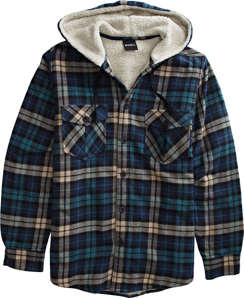 Mens hooded flannel jacket  Flannel  closet  Pinterest  Flannels Clothes and Shopping