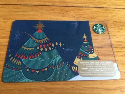 Canada Series Starbucks Christmas Tree Lights 2015 Gift Card New