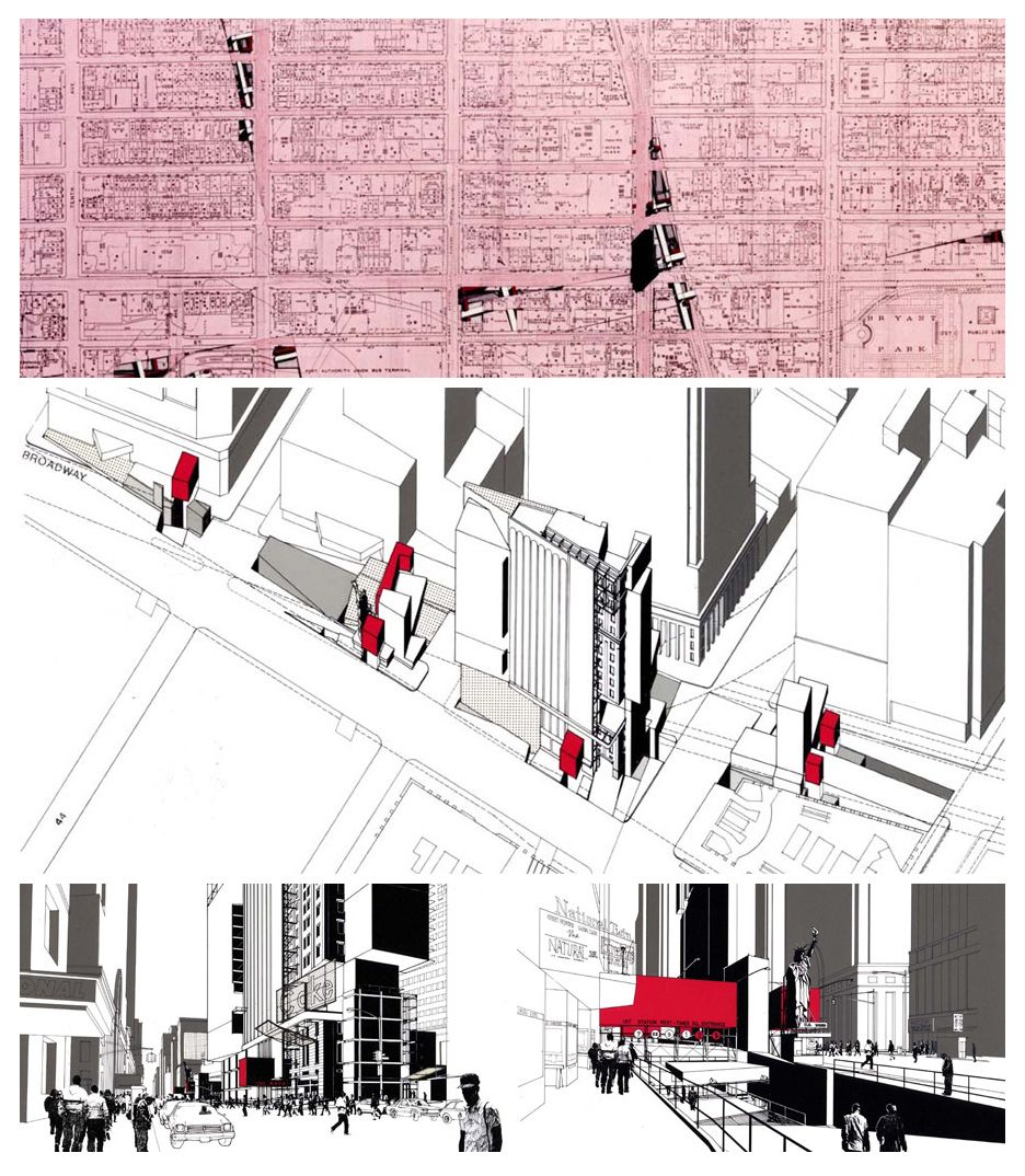 Wes jones 1985 time square architectural presentations for Jones architecture