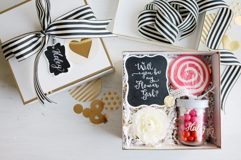 Diy Will You Be My Flower Girl Proposal Gift Box Find