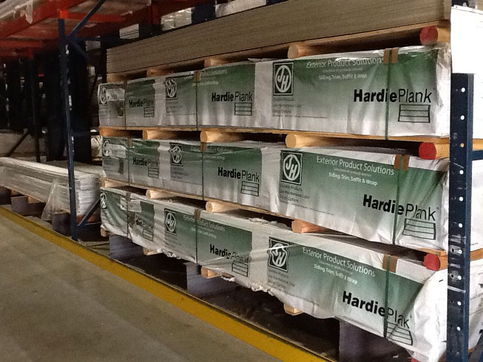 James Hardie Packaged Stored At Lansing Building Products