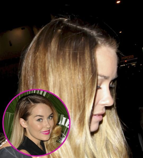 Unbeknownst To Lauren Conrad Her Strands Parted Ways To Reveal Her