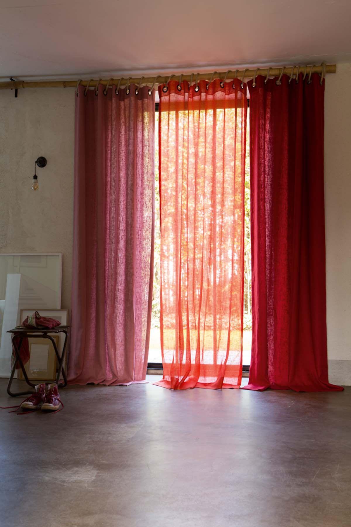 voilages confection lin terracotta orang s m pinterest terracotta voilages et deco rouge. Black Bedroom Furniture Sets. Home Design Ideas