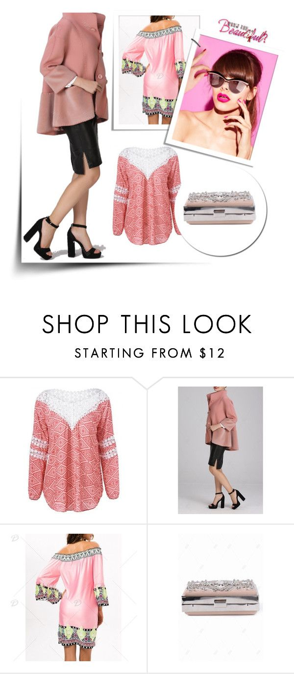 """""""PInky style"""" by merryyyyy-132 ❤ liked on Polyvore featuring dresslily and dezzal"""