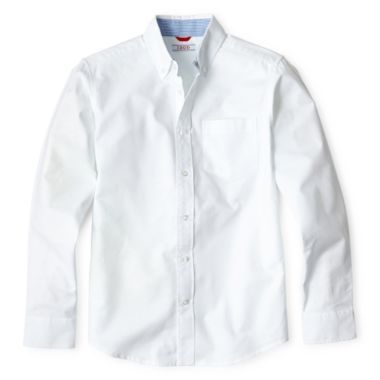e6c542ae Gabe's Dress Shirt- IZOD® Long-Sleeve Oxford Shirt - Boys 4-20 found at @ JCPenney $15.99 jcpenny.com