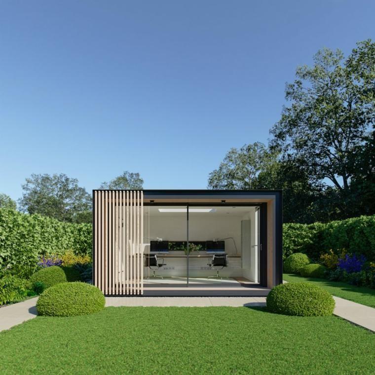 Moderne Buros Im Garten 24 Kreative Raume Dekoration Ideen Hinterhof Buro Gartengebaude Gartenburo