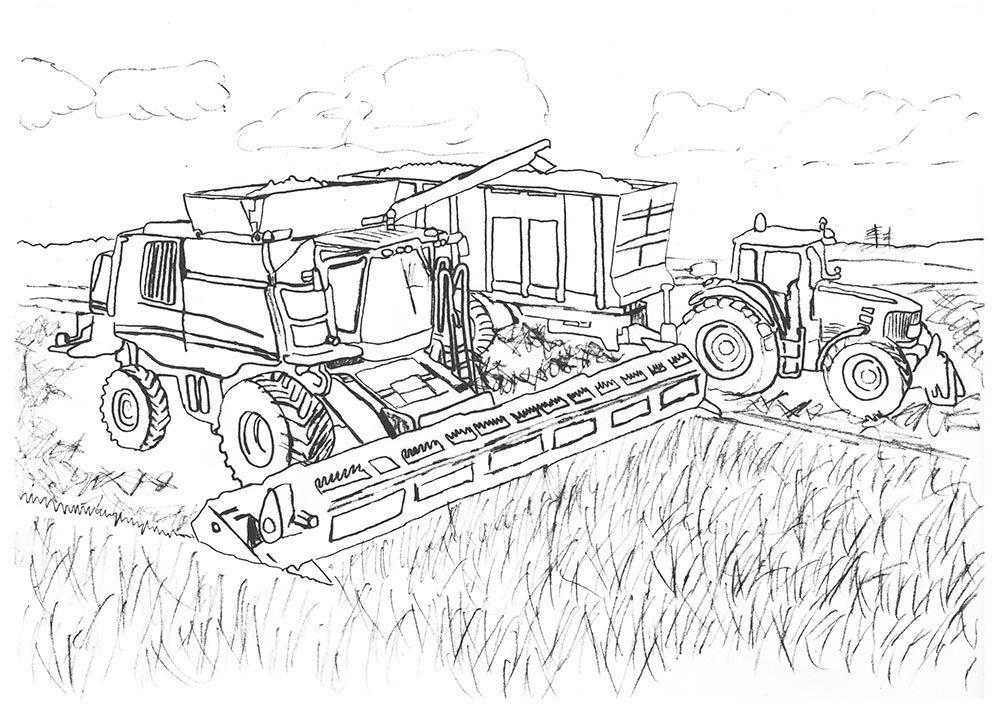 Ausmalbilder Landwirtschaft Tractor coloring pages