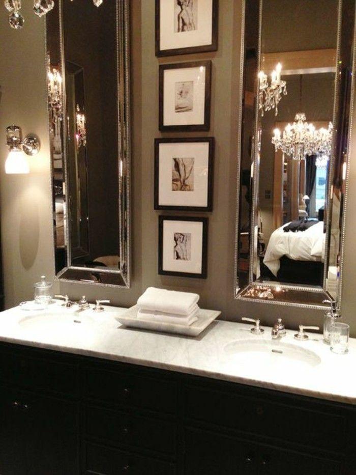 badezimmer deko moderne bader badezimmer in schwarz und grau - bild für badezimmer
