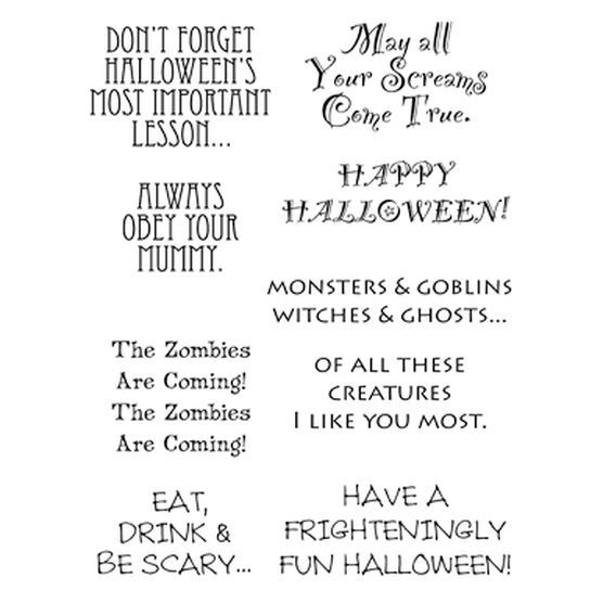 Stampers Anonymous Words To The Rescue Clear Stamp Set Halloween ...