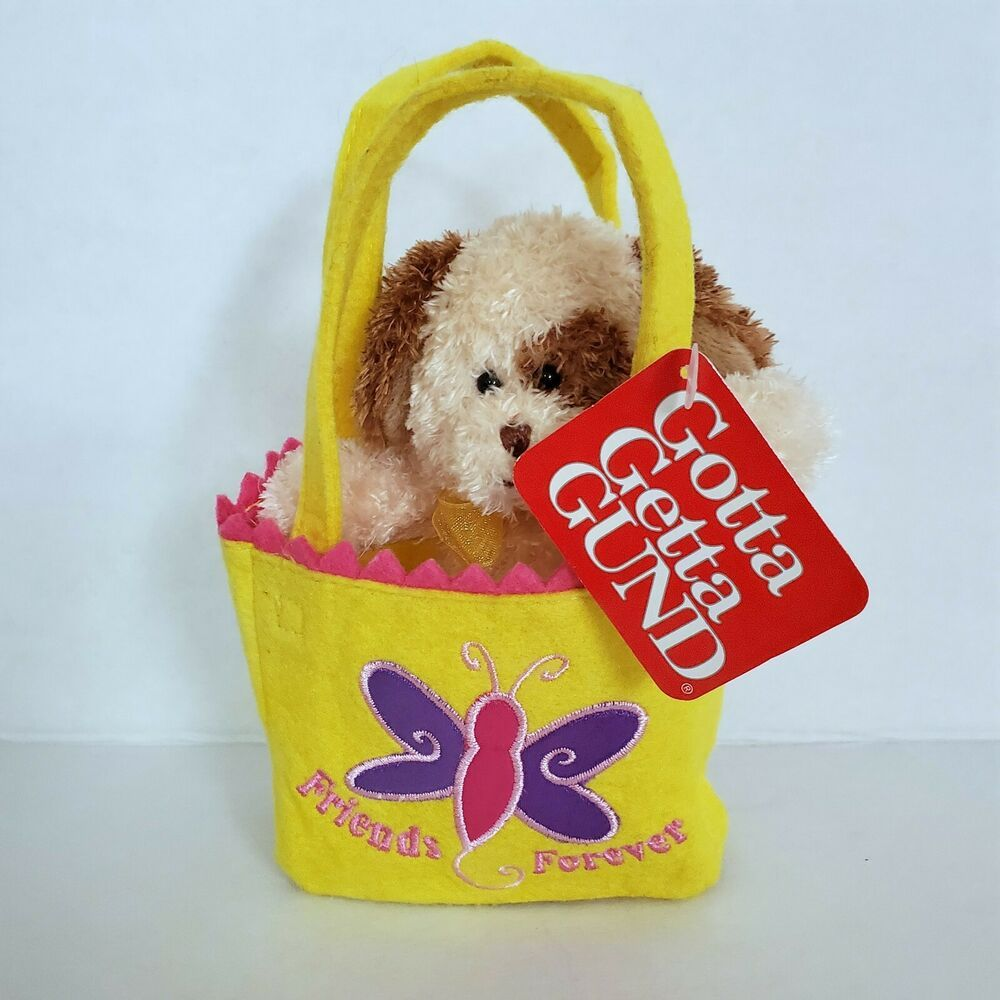Details About Gund Friends Forever Tote Notes Plush Puppy Dog In Felt Tote Bag 7 Tall New With Images Plush Christmas Ornaments Gund Plush Toys Felt Tote Bag