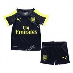 ab21981f6 2016 17 Arsenal 2nd Away Dark Blue Kids Youth Soccer Uniform