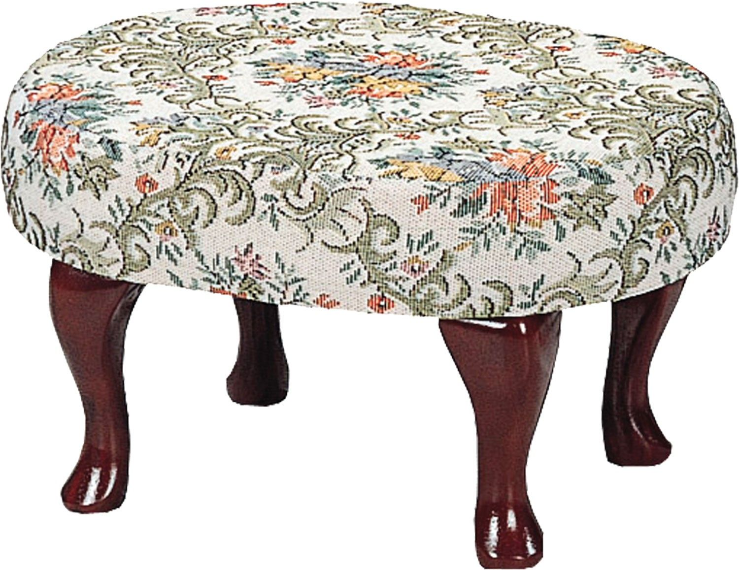 Cherry Upholstered Foot Stool withShapely Legs | Coaster Furniture ...