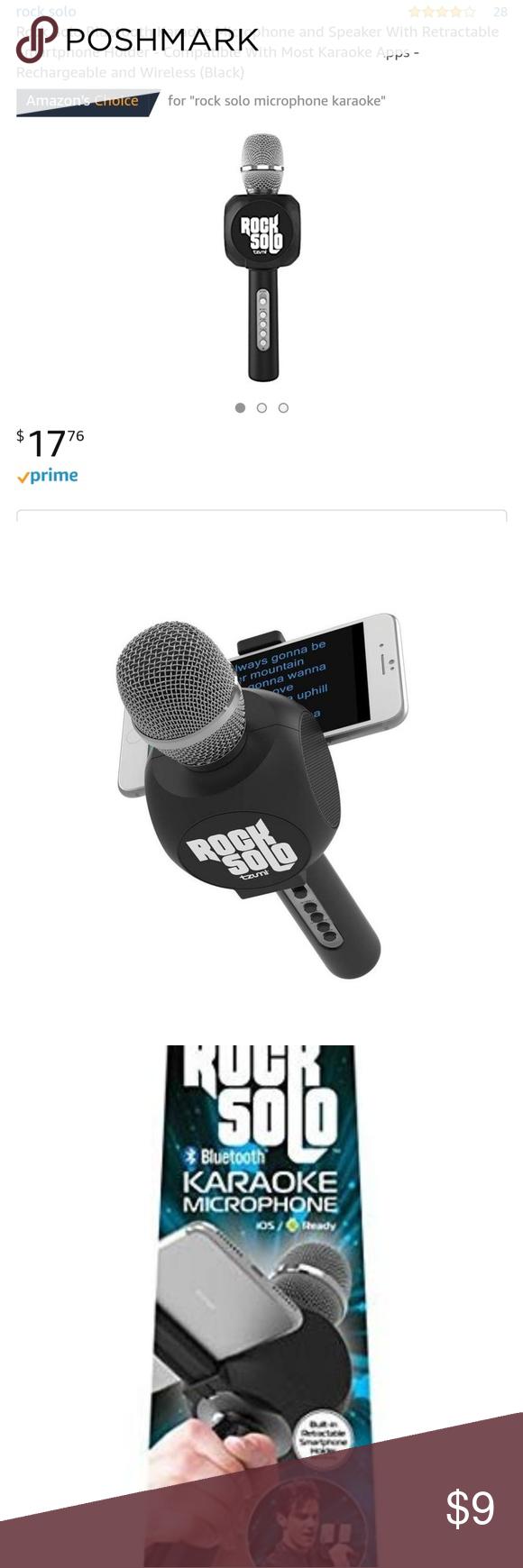 Rock solo bluetooth karaoke mic and speaker Karaoke
