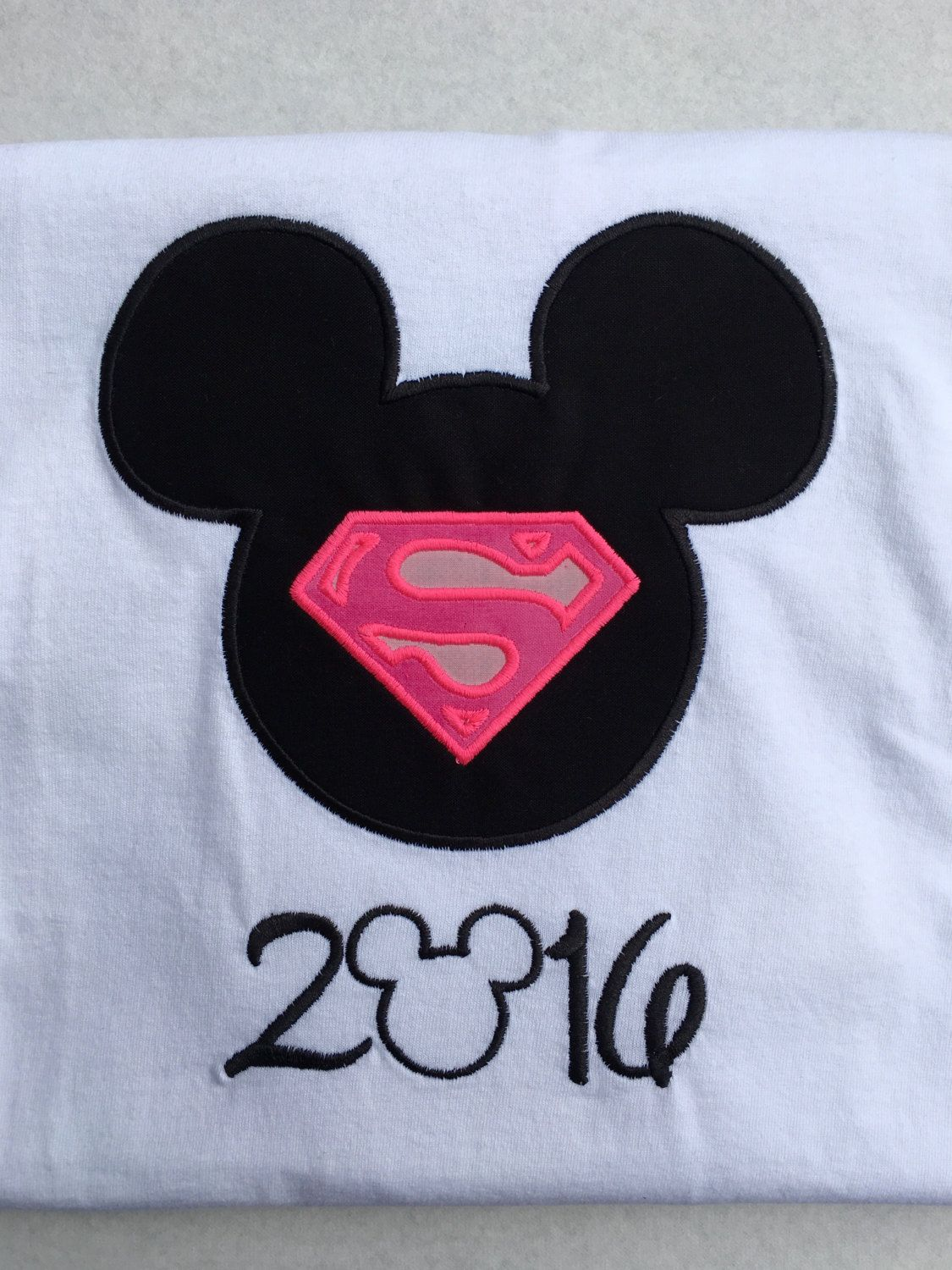 DISNEY SUPER HERO Supergirl-Personalized Embroidered Bodysuit or T-Shirt-Adult or Kids by BerryBlondeRibbon on Etsy