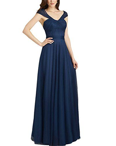 Olivia's Knotted Sweetheart Cap Sleevles Navy Blue Bridesmaid Dresses