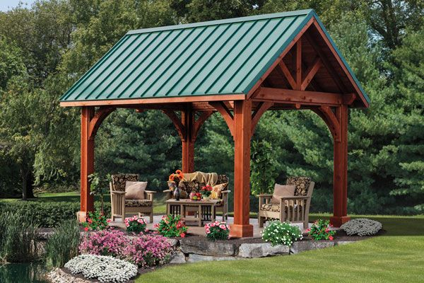 outdoor pavillions for those who appreciate old world craftsmanship construction the backyard pavilionoutdoor pavilionpond ideasbackyard - Patio Pavilion Ideas