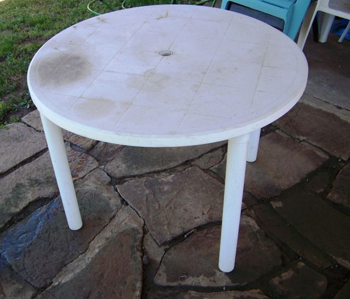 Saturday Project Refinish A Table Plastic Patio Furniture