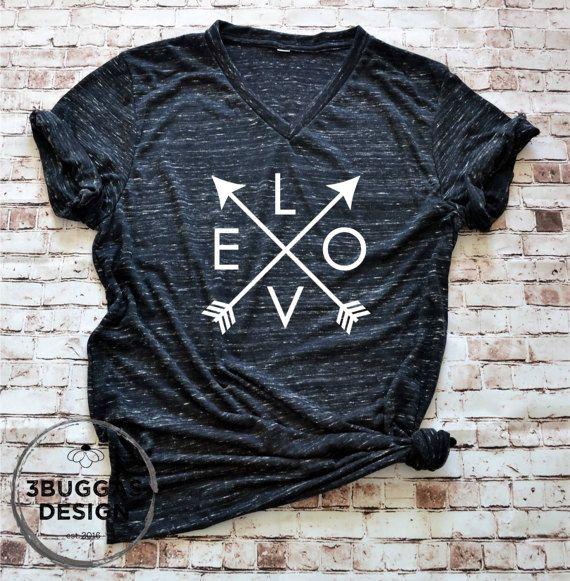 Women s Arrow Tee Love shirt Arrows Love by 3BuggasDesign on Etsy be0fefb438