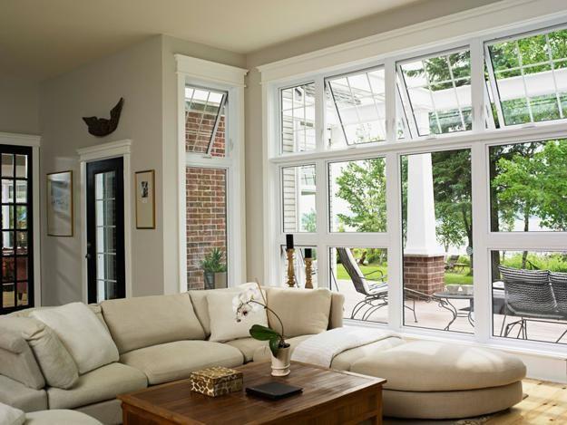 Glass Walls And Big Windows For No Boundaries Inteiror Design And Beautiful House Exteriors Awning Windows Awning Windows Living Room Beautiful Houses Exterior