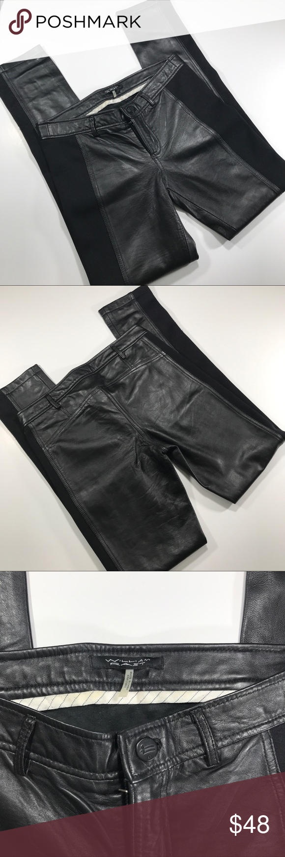 8a7bf4e7955b5 William Rast women's leather pants 26 Pre-owned excellent condition used a  couple hours William