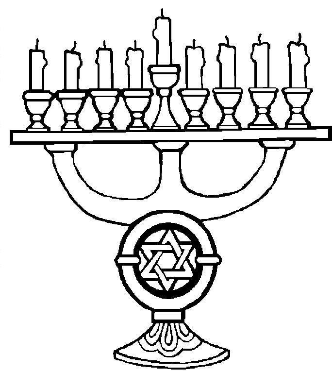 Hanukkah_12.JPG (684×764) | Christmas coloring pages ...