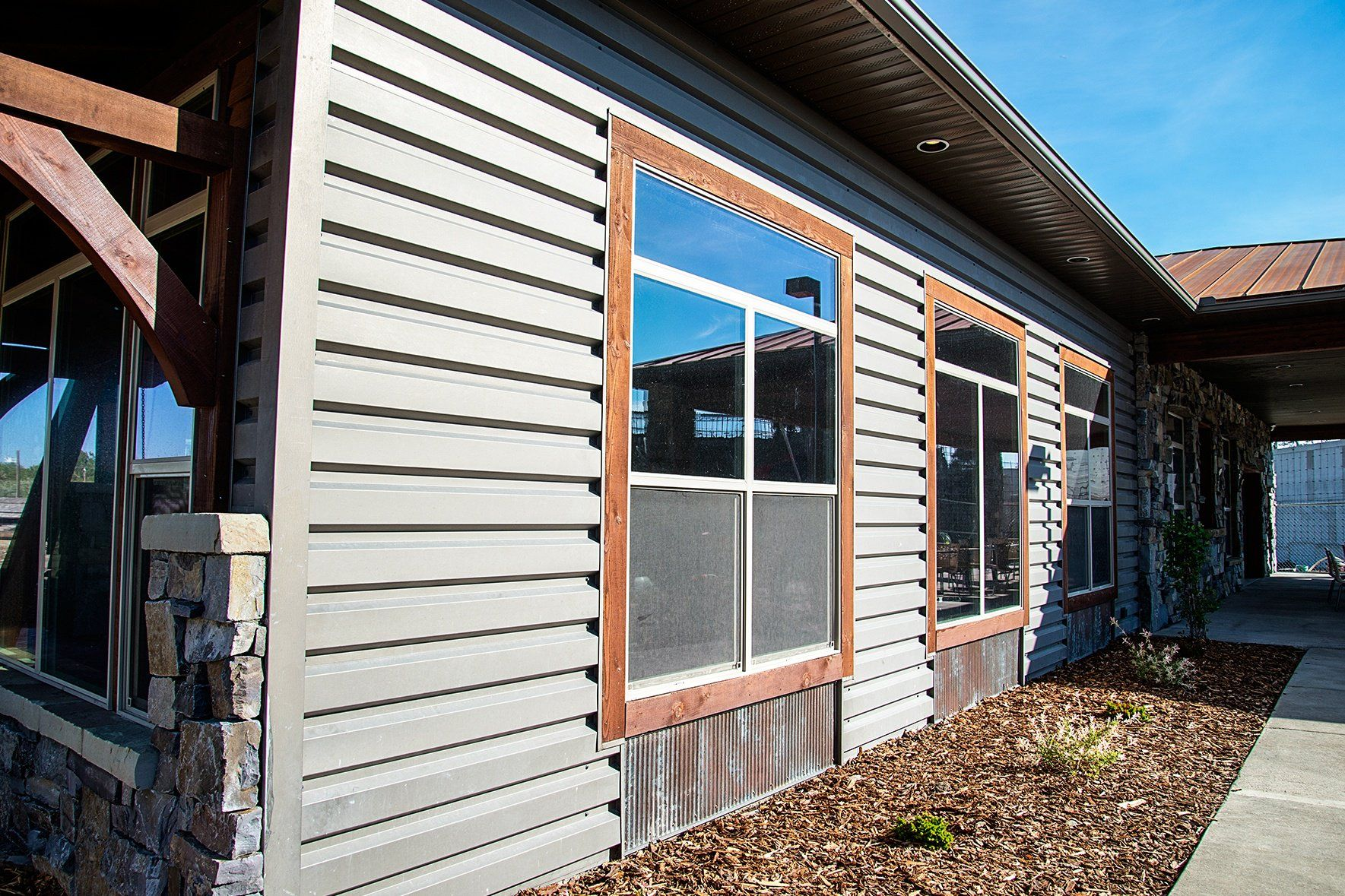 Commercial Building With 6025 Structural Siding Metal Siding Building Siding Architecture