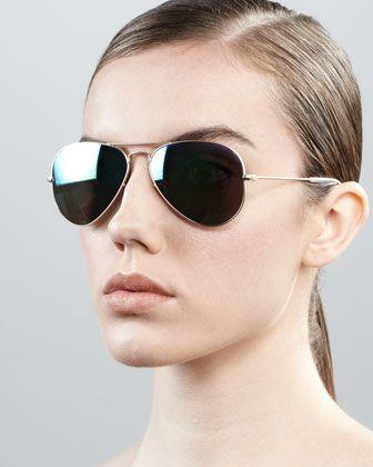 Aviator Sunglasses with Flash Lenses 3bc73aab6c3e5