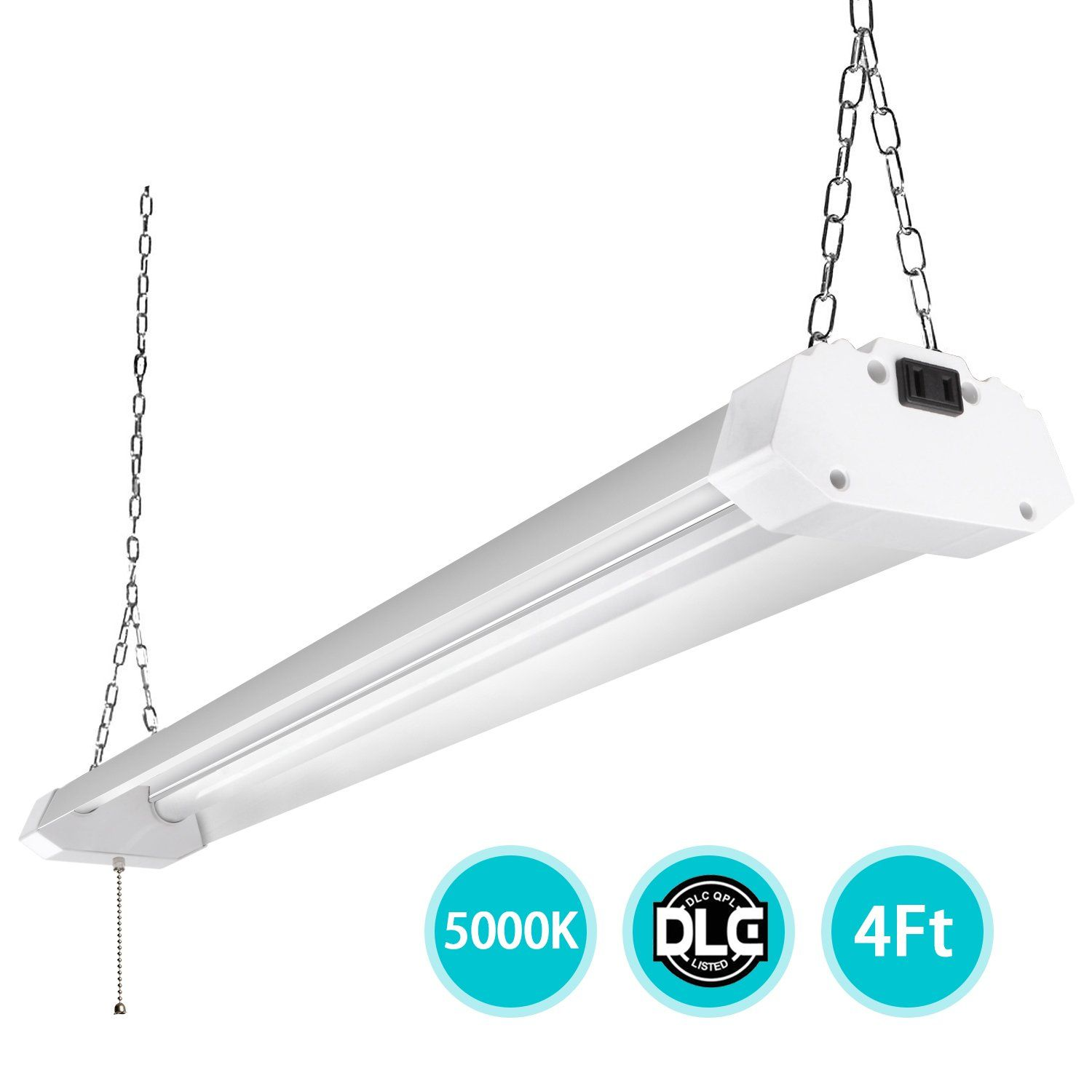 4ft led utility shop lights for garage 40w bright plug in led shop 4ft led utility shop lights for garage 40w bright plug in led shop light arubaitofo Choice Image