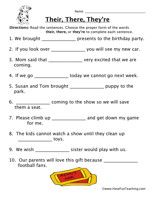 Their There They Re Worksheet 1 Literacy Social Studies