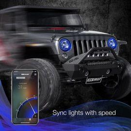 Rgb Halo Kit For Jeep Wrangler Xkchrome Smartphone App In 2020 Jeep Wrangler Jeep Wrangler